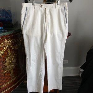 Boss Hugoboss men's cotton white pants,sz32R,mint